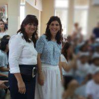 המנהלת החדשה של בית הספר אוהל מאיר נירה אדל והסגנית רחל יגיל