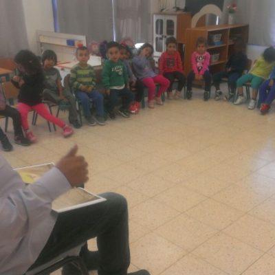 מפגש עם ילדי הגנים